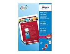 Avery - Papier Photo brillant recto/verso - A4 - 150 g/m² - impression laser - 200 feuilles
