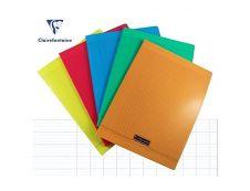 Calligraphe 8000 - Cahier polypro 24 x 32 cm - 96 pages - grands carreaux (Seyes) - disponible dans différentes couleurs