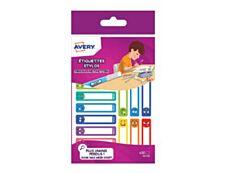 Avery - 30 Étiquettes adhésives pour stylos Smiley - 50 x 10 mm