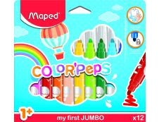 Maped Color'Peps - 12 Feutres - pointe Jumbo