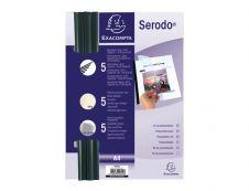 Exacompta - kit reliure (5 baguettes à relier 3 mm noir, plat de couverture: 5 ivoire et 5 transparente)