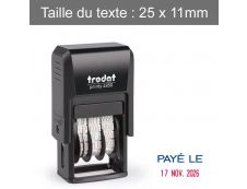 """Trodat - Tampon Dateur Printy 4850 - """"Payé le"""""""
