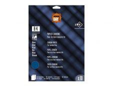JPC - 10 feuilles de papier carbone bleu