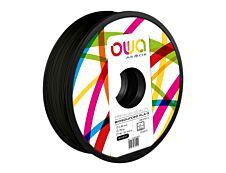 OWA - filament 3D PLA-S - noir - Ø 2,85 mm - 750g