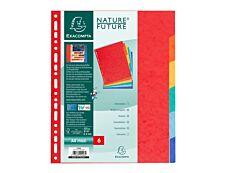 ExacomptaNature Future - Intercalaire 6 positions - A4 Maxi - carte lustrée colorée