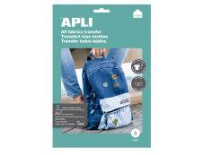 Apli - Papier transfert tous textiles 2 feuilles A4 - Réf. 10955