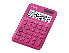 Calculatrice de bureau Casio MS-20UC - 12 chiffres - alimentation batterie et solaire - rouge
