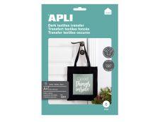 Apli - Papier transfert sur textiles foncés 5 feuilles A4 - Réf. 10247