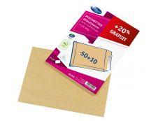 La Couronne - 60 Pochettes Enveloppes (dont 20% gratuit) - C4 229 x 324 mm - 90 gr - sans fenêtre - brun - bande auto-adhésive