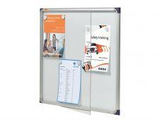 Nobo - Vitrine intérieure 6 A4 (680 x 725 mm) - cadre aluminium fond métal