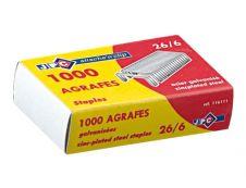 Wonday - Boîte de 1000 Agrafes 26/6 - jusqu'à 20 feuilles