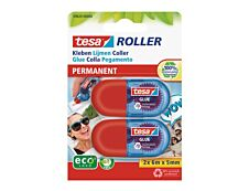 Tesa Mini - 2 Rollers de colle - 5 mm x 6 m - permanent