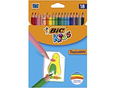 BIC Kids Tropicolors 2 - 18 Crayons de couleur