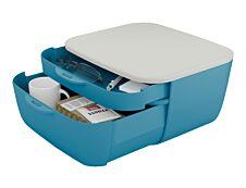 Leitz Cosy - Bloc de classement plastique - 2 tiroirs - bleu