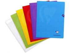 Clairefontaine Mimesys - Cahier polypro 24 x 32 cm - 48 pages - grands carreaux (Seyes) - disponible dans différentes couleurs