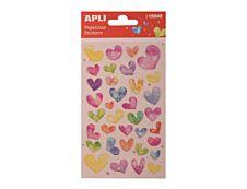 Apli Kids - Stickers cœurs paillettes