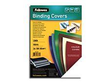 Fellowes - couvertures à reliure A4 (21 x 29,7 cm) - carton grain cuir 250 g/m² - noir