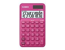 Calculatrice de poche Casio SL-310UC - 10 chiffres - alimentation batterie et solaire - rouge