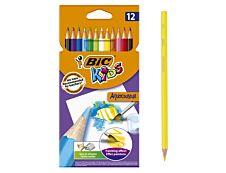 BIC Kids Aquacouleur - 12 Crayons de couleur aquarellables