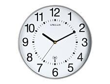 Unilux - Horloge Wave - mécanisme radio pilotée - 30 cm - gris métal