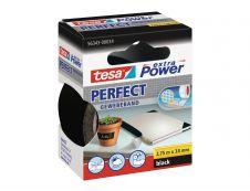 Tesa extra Power Perfect - Ruban adhésif en toile - 38 mm x 2.75 m - noir