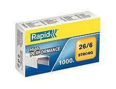 Rapid - Boîte de 1000 Agrafes Strong 26/6 - jusqu'à 30 feuilles