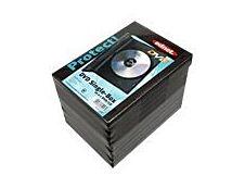 Ednet Single Box - 10 boîtiers pour DVD - noir