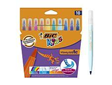 BIC Kids Visaquarelle - 10 Feutres - pointe pinceau