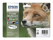 Epson T1285 Renard - Pack de 4 - noir, cyan, magenta, jaune - cartouche d'encre originale