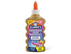 Elmers - Colle pailletée pour slime dorée - 177ml