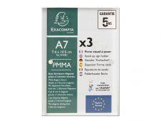 Exacompta - 3 Porte-visuels fermeture magnétique - A7 - double face