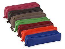 Clairefontaine - Trousse rectangulaire - cuir teinté - disponible dans différentes couleurs