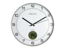Unilux - Horloge intelligente Tempus - affichage température - 30,5 cm - gris métal
