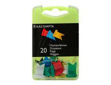 Exacompta - 20 Épingles drapeaux - couleur assorties