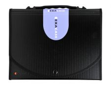 Exacompta Exacase - Classeur ménager (valisette trieur) 13 onglets - noir