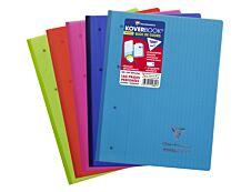 Clairefontaine Koverbook - Bloc de cours agrafé A4+ - 160 pages détachables perforées - grands carreaux (Seyes) - disponible dans différentes couleurs