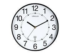 Unilux - Horloge Wave - mécanisme radio pilotée - 30 cm - noir