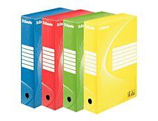 Esselte Standard - 10 boîtes archives - dos 8 cm - couleurs assorties