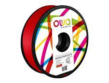 OWA - filament 3D PLA-S - rouge - Ø 2,85 mm - 750g