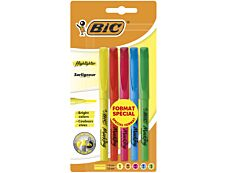 BIC Highlighter - Pack de 5 surligneurs - couleurs assorties
