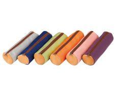 Elba - Trousse ronde - cuir teinté canvas - disponible dans différentes couleurs