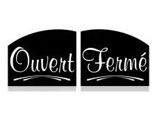 """Bequet - Pancarte recto/verso """"Ouvert/fermé"""" - 15 x 12 cm"""