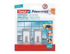 TesaPowerstrips - 2 crochets métal - 4 languettes amovibles 45 x 23mm