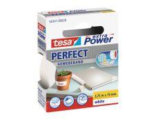 Tesa extra Power Perfect - Ruban adhésif en toile - 19 mm x 2.75 m - blanc