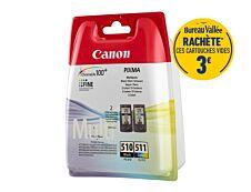 Canon PG-510/CL-511 - Pack de 2 - noir, cyan, magenta, jaune - cartouche d'encre originale