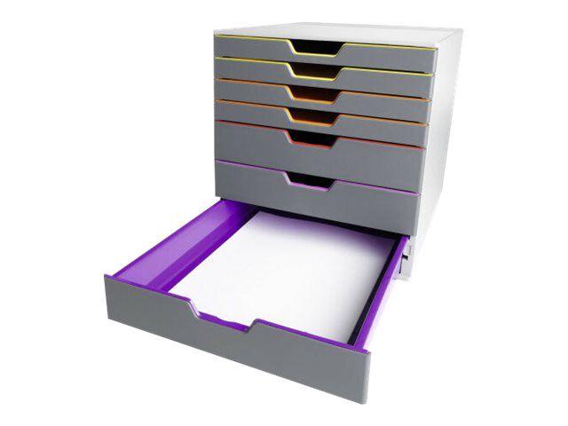 Gris 30.2X35.9X43.2cm Module de rangement Module Classement 7 tiroirs avec organisateur darmoire de rangement en plastique for classeurs