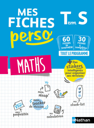 Mes Fiches Perso Maths Terminale S Revisions Bac 2020 Pas Cher Bureau Vallee