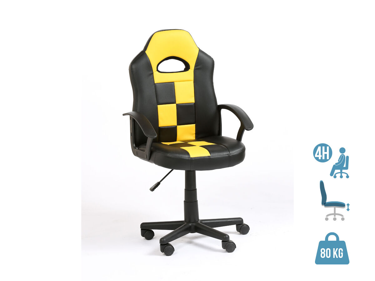 fauteuil gamer formule 1 accoudoirs