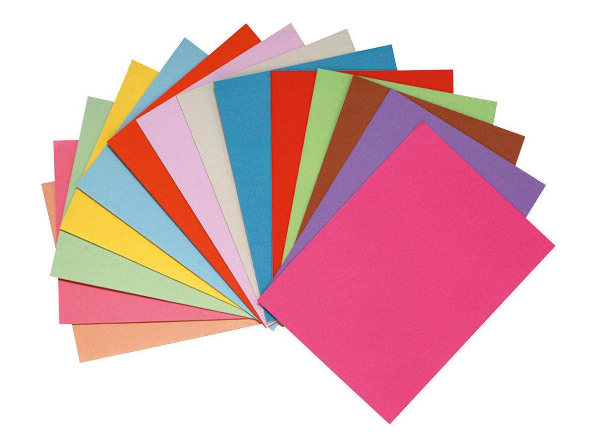 Exacompta Paquet de 100 chemises Foldyne 250 carte recycl/Ã/©e 24x32 cm 220 grammes Orange