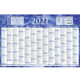 Bouchut 228   Calendrier bancaire recto 13 mois   43 x 65 cm   bleu